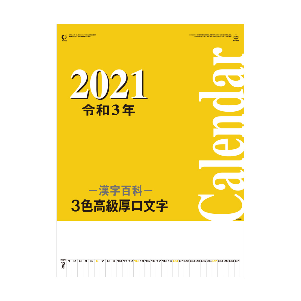 3色高級厚口文字・漢字百科  [IC250H]