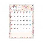 SR534 小花カラーカレンダー