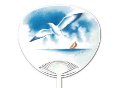 白クマ - 自動貼りポリうちわ