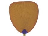 美人画・傘(丸柄大万月・市松) - 手貼り竹うちわ