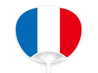 自動貼りポリうちわ・フランス