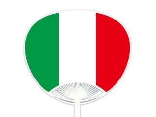 自動貼りポリうちわ・イタリア