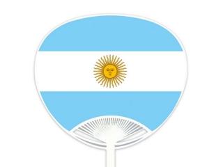 自動貼りポリうちわ・アルゼンチン
