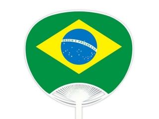 自動貼りポリうちわ・ブラジル