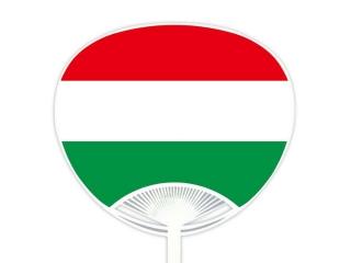 自動貼りポリうちわ・ハンガリー