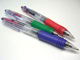 クリア3色ボールペン