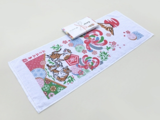 お年賀タオル・干支タオル 日の出柄 日本製