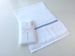 粗品タオル・日本製 白 カラー界切付