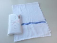 粗品タオル・日本製 白シリンダー カラー界切付