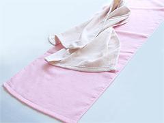 日本製片毛フェイスタオル カラー(枠ありプリント)