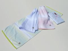 粗品タオル(ドット柄タオル)・日本製グラデーションワッフル