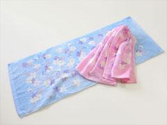 粗品タオル(花柄タオル)・日本製あかね柄