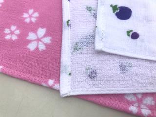 粗品タオル・ハンドタオル ガーゼ織りたおるハンカチ 日本製