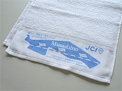 片袖1色プリント・日本製白