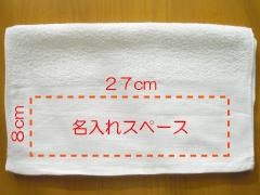 片袖プリントの名入れサイズ
