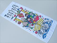 [のし印刷無料] 粗品おしぼりタオル・海外製フラワーギフト柄 [TC4081]